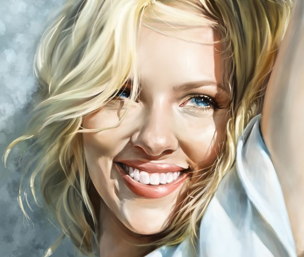 Обои для рабочего стола Портрет Scarlett Johansson / Скарлетт Йоханссон, by Catherine Steuer
