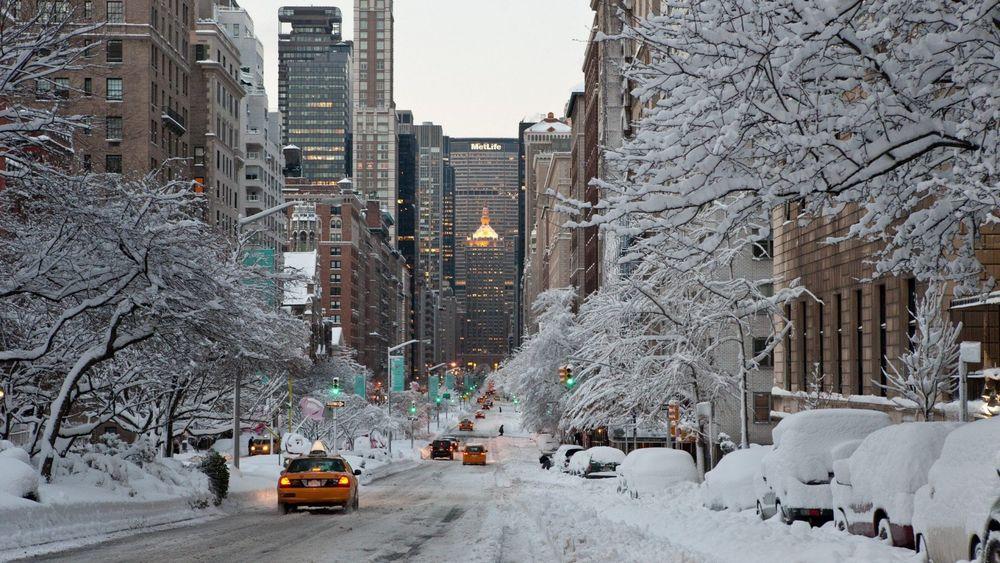 Обои для рабочего стола зима город