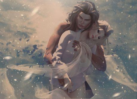 Обои Парень обнимает девушку, by Skip Staheli