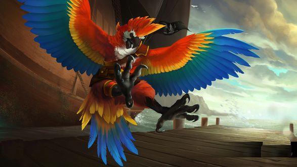 Обои Мудрец, любитель загадок и сладкоежка Zephyr, персонаж компьютерной игры Heroes of Newerth