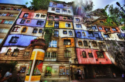 Обои Знаменитый Дом Хундертвассера / Hundertwasser House, Вена, Австрия