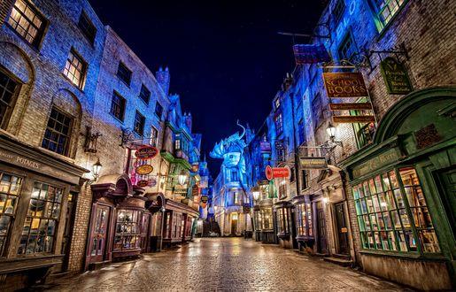 Обои Волшебный мир Гарри Поттера - Косой переулок (Diagon Alley)
