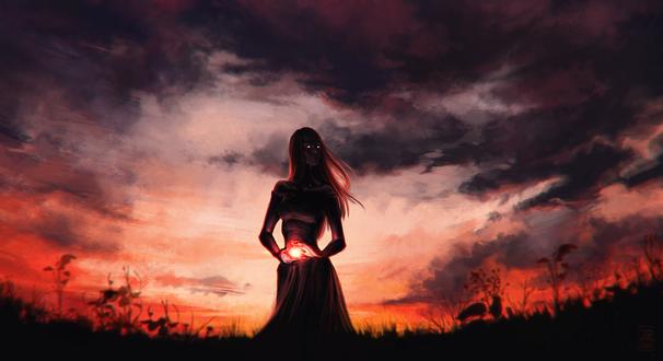 Обои Работа Кровавая ведьма / Blood Witch, by sashajoe