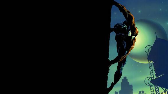 Обои Человек паук на стене здания