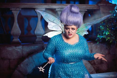 Обои Косплей Fairy Godmother / Фея-Крестная из мультфильма Шрек / Shrek, by Pugoffka-sama