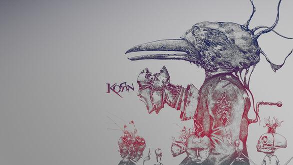 Обои Плакат группы KORN