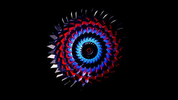 Обои Круглое абстрактное изображение