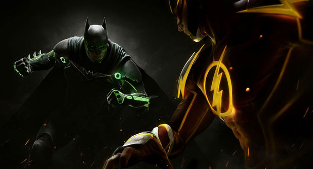 Обои Бэтмен и Флеш