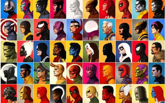 Обои Портреты песонажей вселенной Marvel