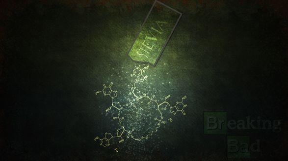 Обои Химическая формула с надписью Breaking Bad / Во все тяжкие, автор Stevia