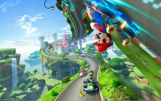 Обои Арт к игре Mario Kart