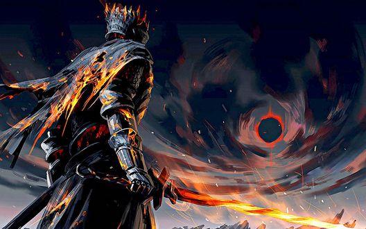 Обои Персонаж компьютерной игры Темные души 3 / Dark Souls III