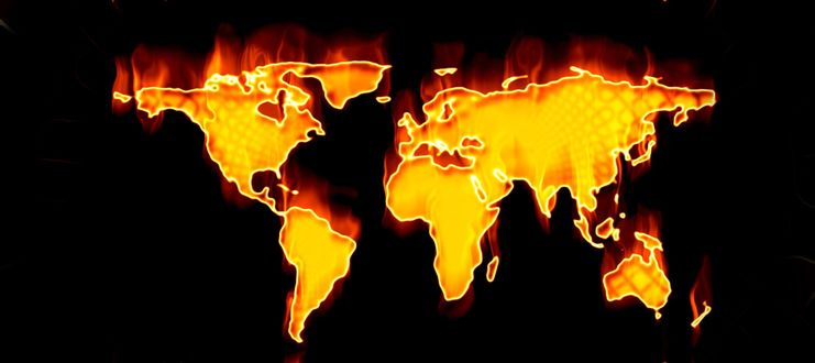 Обои Земля в огне