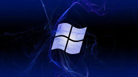 Обои Логотип операционной системы Windows в синем цвете