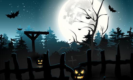 Обои Изображение стилизированное под хеллоуин