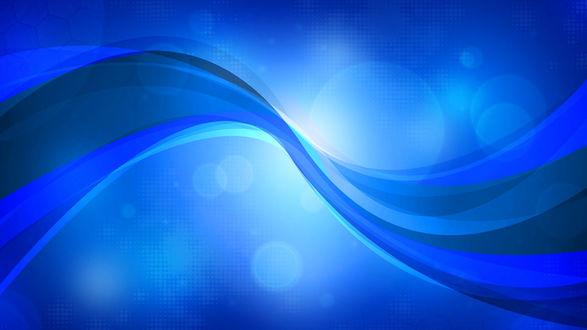 Обои Синяя абстракция с бликами