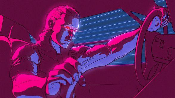Обои Релиз песни Zombie Hyperdrive - Red Eyes for Shadows And Trickery (Гиперезда зомби - Красные Глаза для Теней И Обмана)