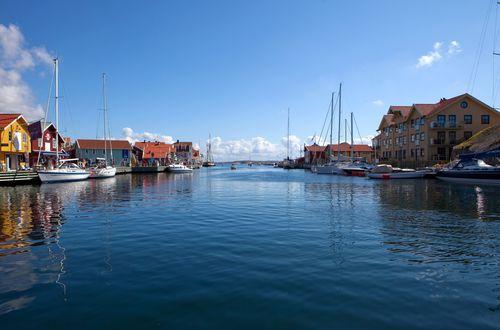 Обои Дома на воде, Sweden / Швеция