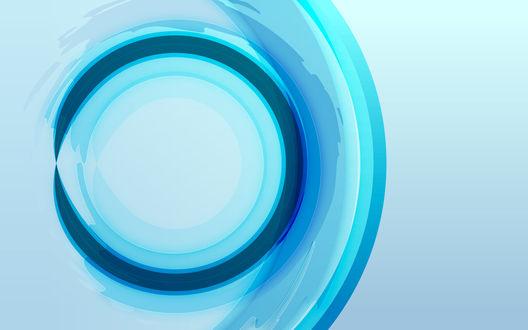 Обои Синяя абстракция в виде окружности