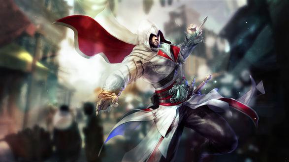 Обои Ezio Auditore / Эцио Аудиторе из игры Assassis Creed / Кредо Ассасинов