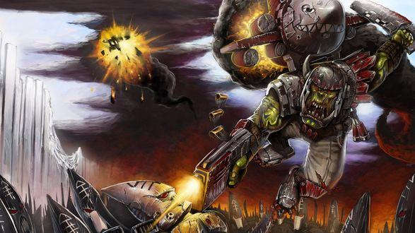 Обои Арт к вселенной Warhammer 40K