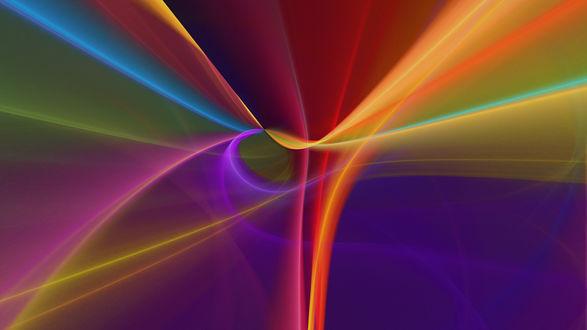 Обои Разноцветная абстракция из всего спектра радуги