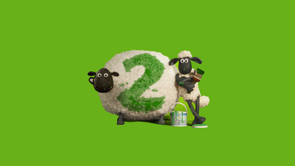 Обои Рекламный постер мультфильма Барашек Шон 2 / Shaun The Sheep 2