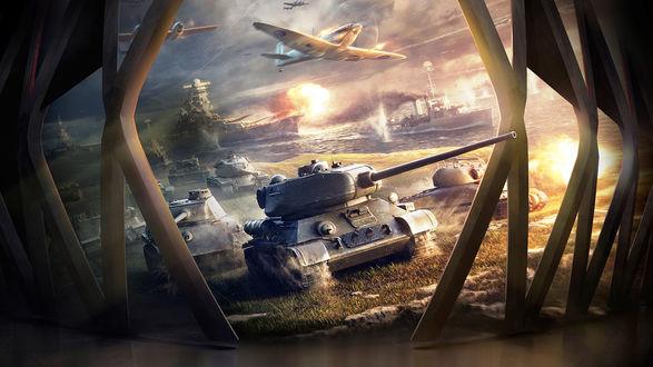 Обои Арт к игре World of Tanks / Мир танков