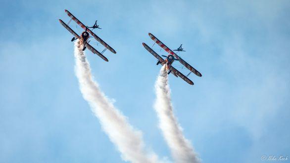 Обои Два самолета в небе, by Nike Koch