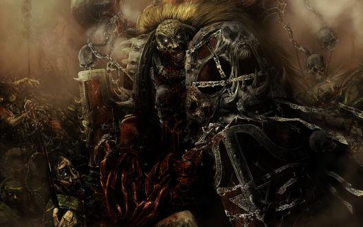 Обои Перонаж из игры Warhammer / Вархаммер