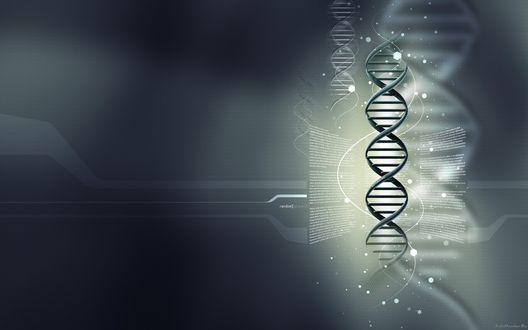 Обои ДНК на темном фоне
