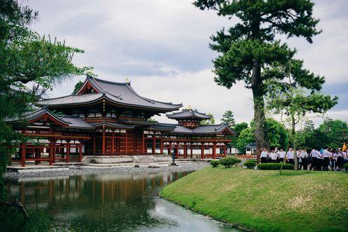 Обои Японский традиционный дом, Удзи, Япония / Uji, Japan, Ajirogi-no-michi