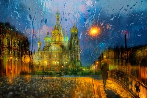 Обои Дождливое утро ноября, Санкт-Петербург, фотограф Ed Gordeev