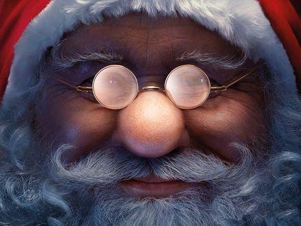 Обои Лицо доброго Санта-Клауса крупным планом