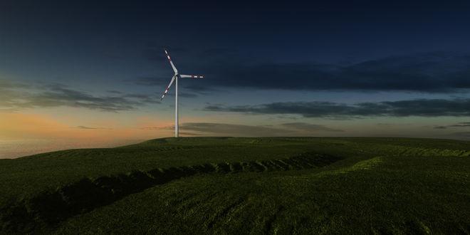 Обои Ветряк в конце поля, by Hypnoshot