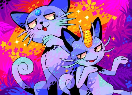 Обои Разноцветные покемоны, by Koolaid-Girl
