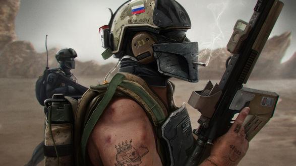 Обои Арт-воин специального подразделения России