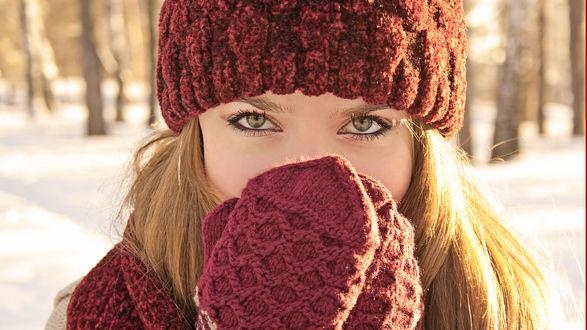 перчатки снег бесплатно