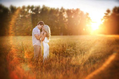 Обои Влюбленные стоят в поле, фотограф Irina Nedyalkova