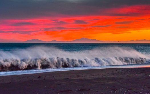 Обои Как солнце садится зимой, фотограф Michael Jordanoff