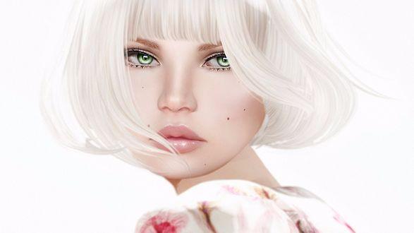 Обои Девушка с зелеными глазами