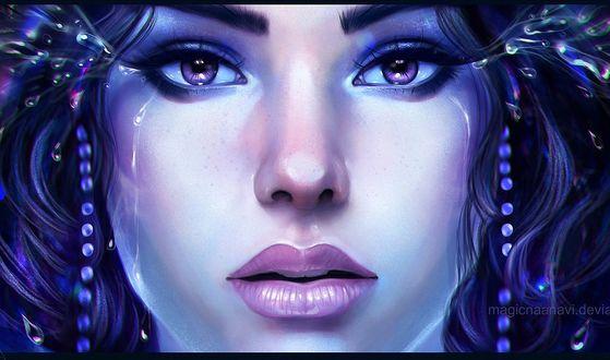 Обои Героиня сериала Клон, со слезами на глазах, by magicnaanavi