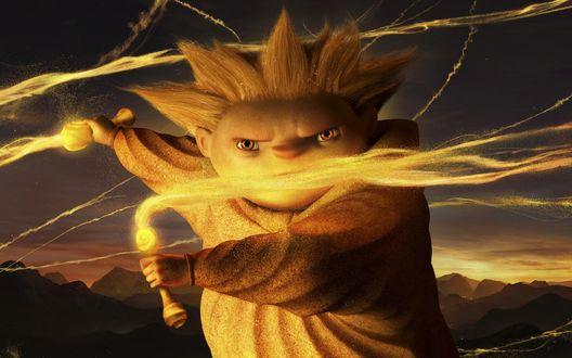 Обои Песочный Человек из мультфильма Хранители Снов / Rise of the Guardians