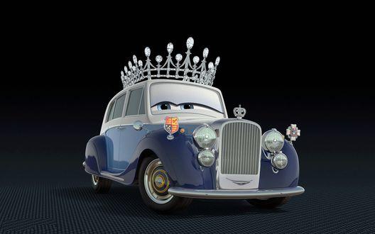 Обои Машина королева из мультфильма Тачки 2 / Cars 2
