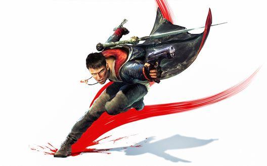 Обои Данте, сын демона-рыцаря Спарды из мультсериала Демон против демонов / Devil May Cry