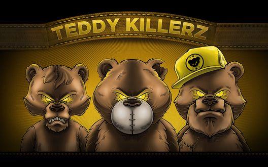 Обои Рекламный плакат музыкальной группы Teddy Killerz