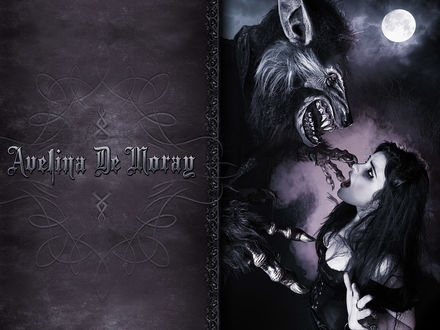 Обои Вампирша и оборотень (Avelina De Morag)