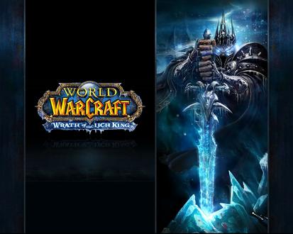 Обои Король Лич с Ледяной Скорбью в руках из игры World of Warcraft
