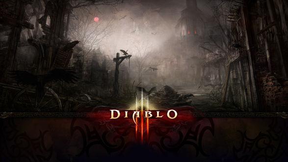 Обои Diablo. Вороны в развалинах старого города