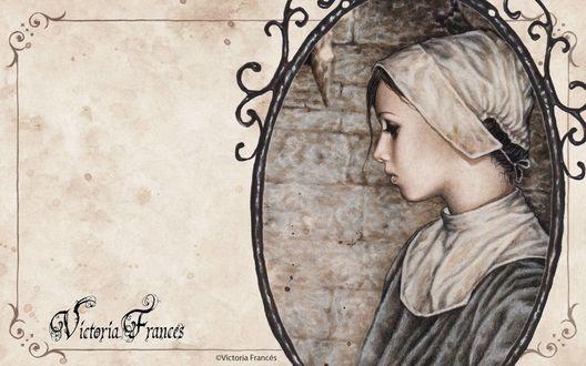 Обои Средневековая медсестра на портрете, by Victoria Frances
